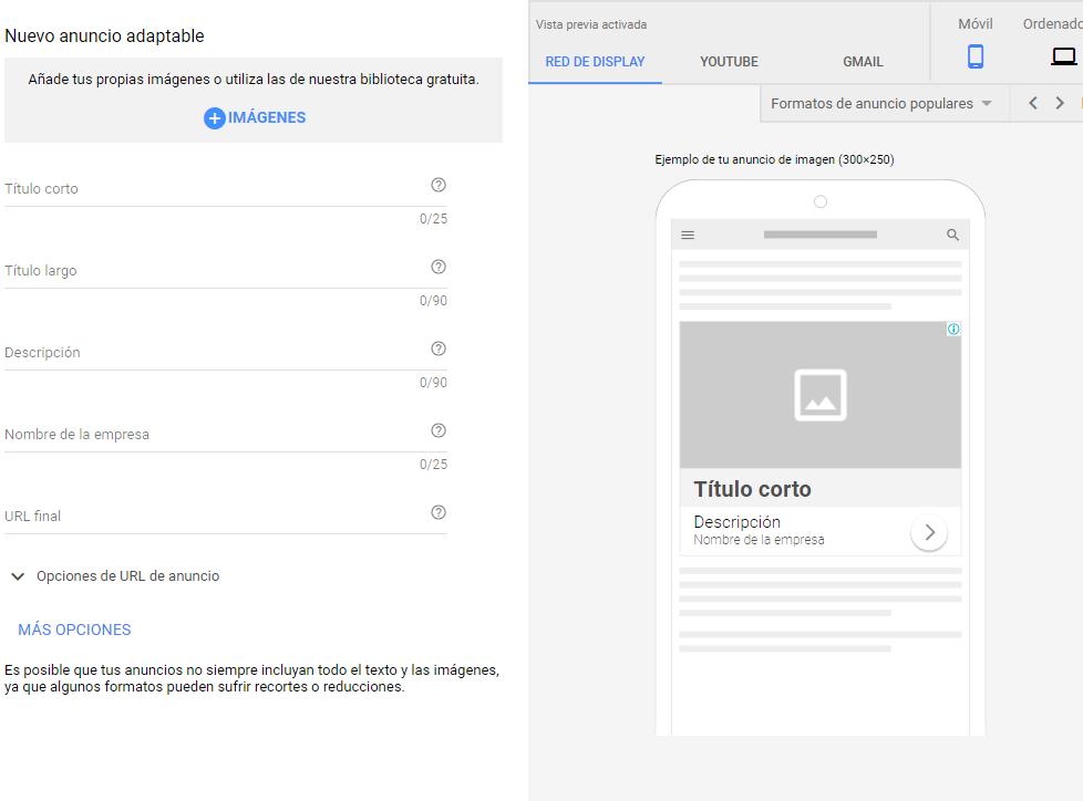 Google adwords, adwords, red display, anuncio estandar google adwords, anuncio display