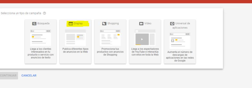 Google, google adwords, adwords, red de display, crear campaña adwords