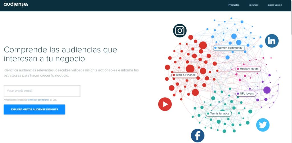 Audiense, audiense redes sociales, herramientas marketing redes sociales, herramientas marketing online 2018