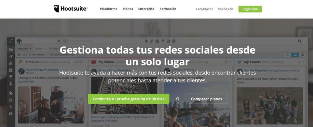 Hootsuite, Hootsuite redes sociales, herramientas marketinf redes sociales, herramientas marketing online 2018